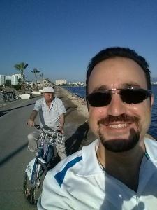 Babamla bisiklet selfie